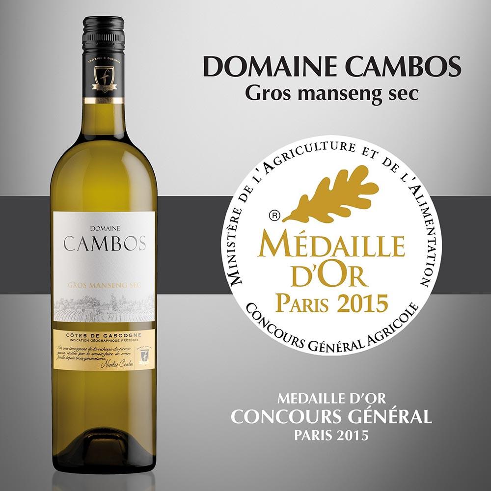 Domaine Cambos Gros Manseng Sec - IGP Côtes de Gascogne