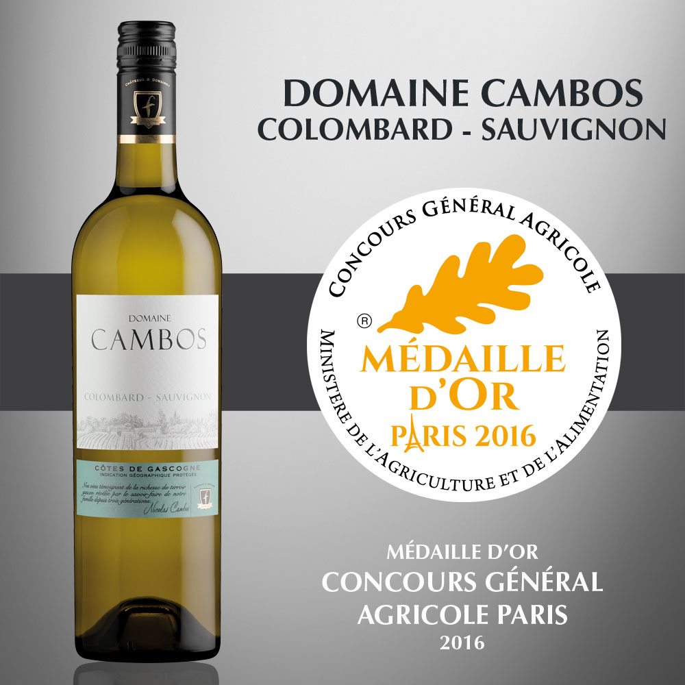 Domaine Cambos Colombard-Sauvignon - IGP Côtes de Gascogne