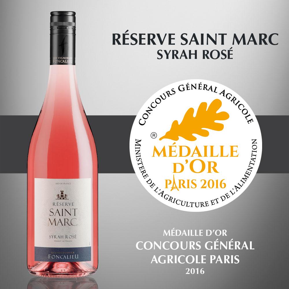 Réserve Saint Marc Syrah Rosé - IGP Pays d'Oc