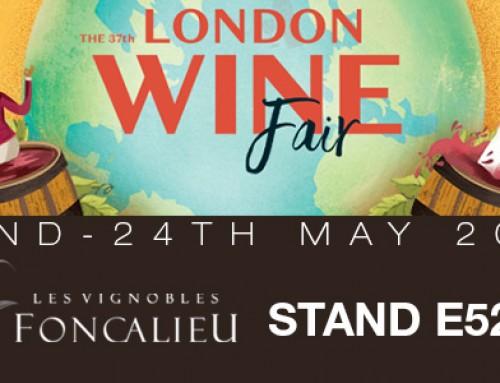 LES VIGNOBLES FONCALIEU A LA LONDON WINE FAIR 2017