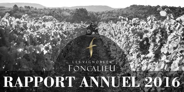 Rapport annuel de l'année 2016 publié par les Vignobles Foncalieu