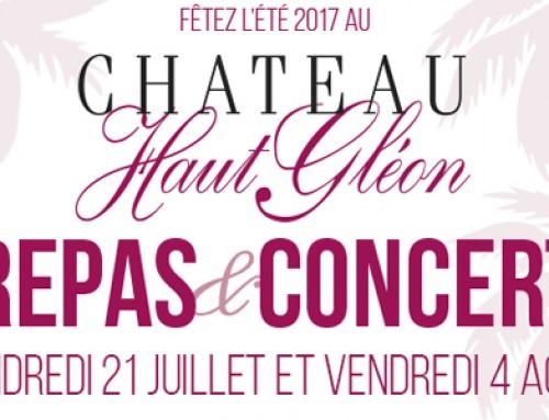 RENDEZ-VOUS AUX SOIREES D'ETE 2017 DU CHATEAU HAUT-GLEON
