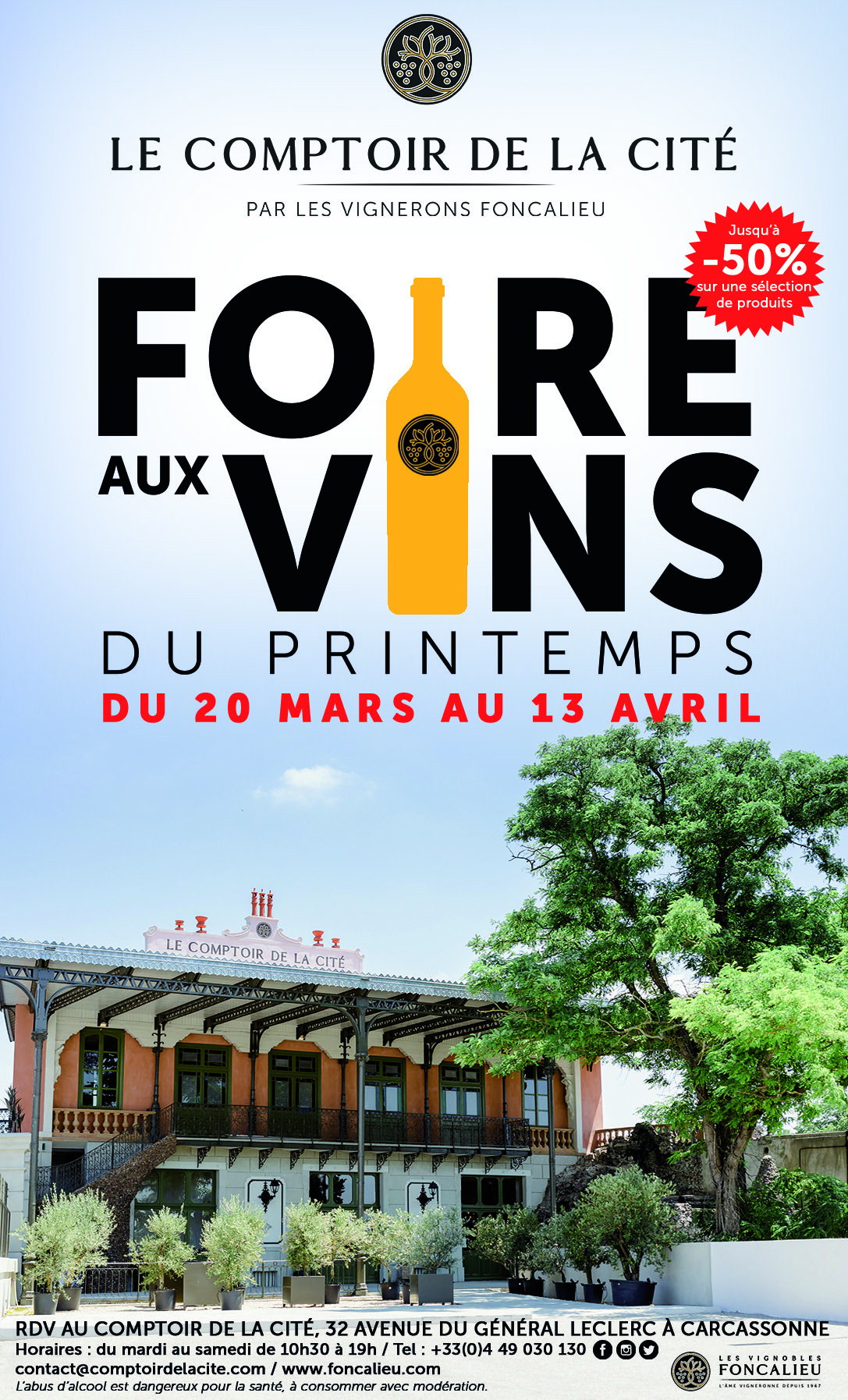 SPRING WINE FAIR AT LE COMPTOIR DE LA CITE