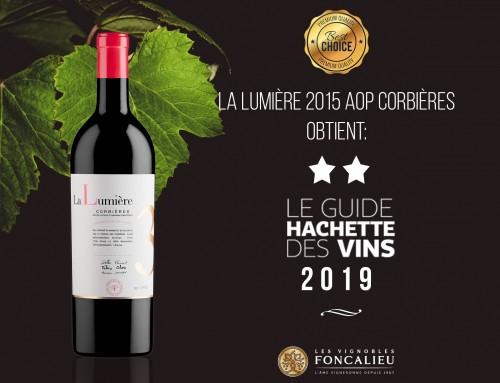 Guide Hachette 2019: deux étoiles pour la cuvée La Lumière !