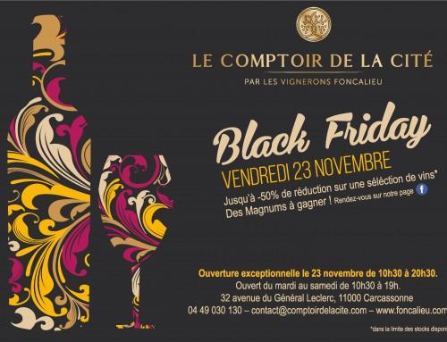 Le vendredi 23 novembre, c'est le Black Friday au Comptoir de la Cité !