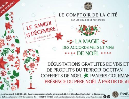 La magie des accords mets et vins de Noël