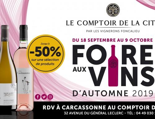Foire aux Vins d'Automne au Comptoir de la Cité !
