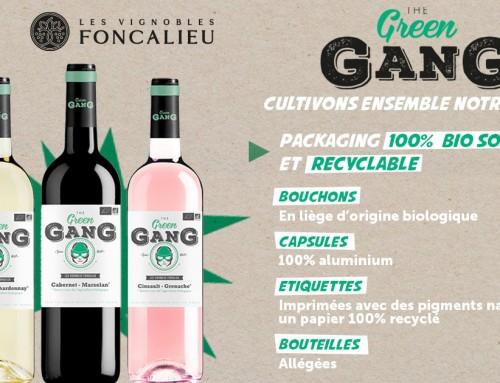 Green Gang, our organic wine range, 100% biosourced